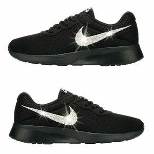 1b9602ba75d9 Nike Shoes - Swarovski Crystal Bling Nike Tanjun Black